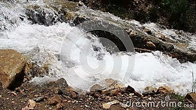 Manmade waterfalls stock footage