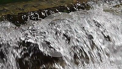 Manmade waterfalls stock video
