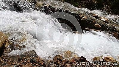 Manmade waterfalls stock video footage