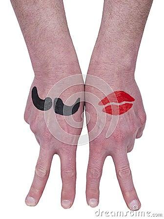 Mann-Frauen-Liebes-Paar-Verhältnis-Konzept