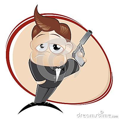 Mann mit einer Gewehr