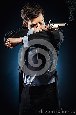 Mann mit Muskete