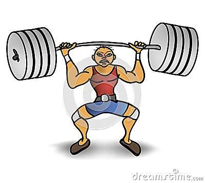 Mannaufzug ein Gewicht