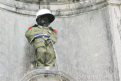 Manneken Pis at Brussels, Belgium