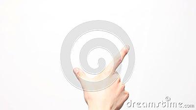 Mannelijke hand. Touchscreen gebaren. stock footage