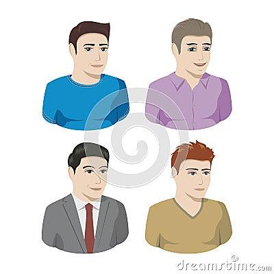 Mannelijke pictogrammen