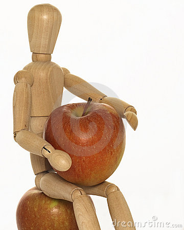Mannequin with apples