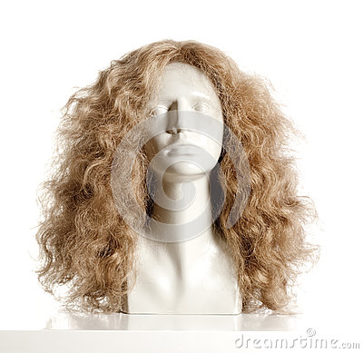Free Mannequin Female Head With Wig Royalty Free Stock Photos - 78791398
