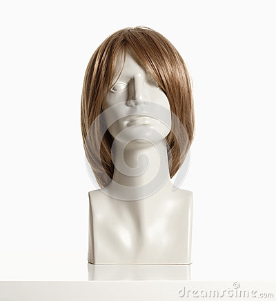 Free Mannequin Female Head With Wig Stock Image - 80374861