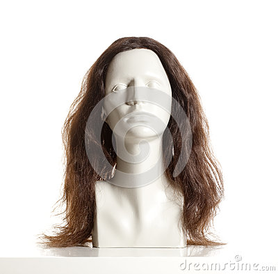 Free Mannequin Female Head With Wig Stock Images - 80737944