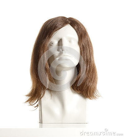 Free Mannequin Female Head With Wig Stock Images - 80739404