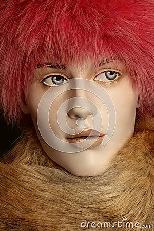 Mannequin in fur