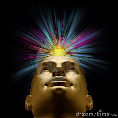 Free Mannequin Head With Explosion Of Light Above Royalty Free Stock Photo - 17812635