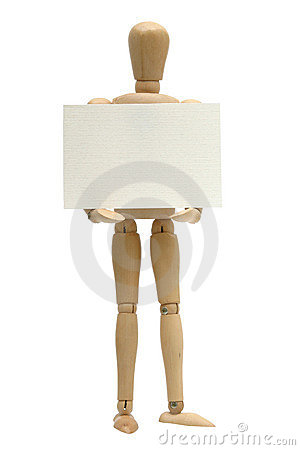 Free Mannequin Holding Card Stock Photography - 269352