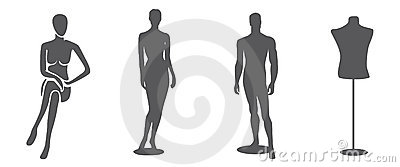 Mannequin Silhouettes Stock Photos, Images, & Pictures - 173 Images