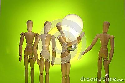 Mannequin Team Presenting A Big Idea