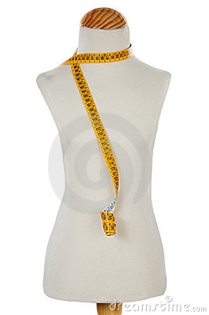 Free Mannequin With A Tape Measure Royalty Free Stock Image - 6835986
