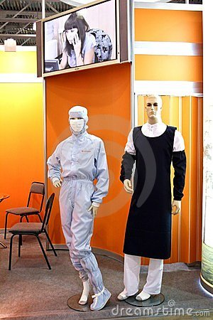 Mannequins dressed in chemical laboratory workers Editorial Photography