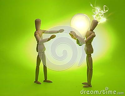 Mannequins Sharing an Idea