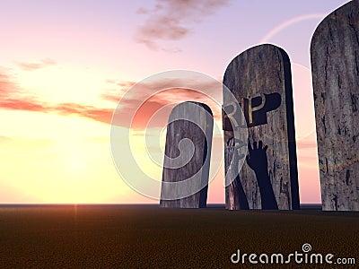 Mano 17 del cimitero