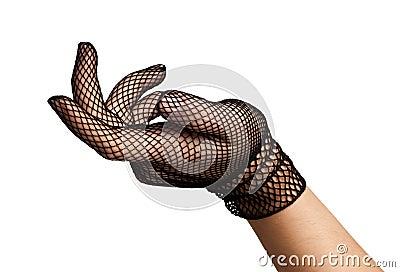 Mano elegante - guantes del cordón