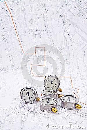 Manometer pressure water