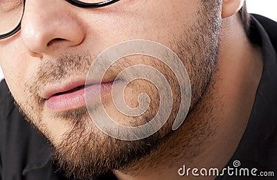 Mans beard