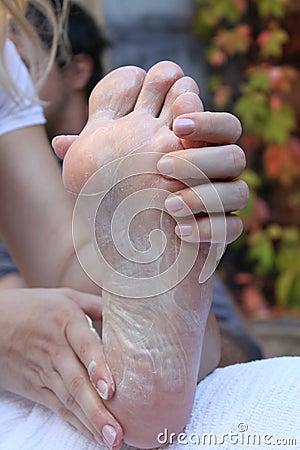 mans foot