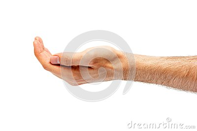 Mans handfördjupning.