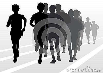 Mans running