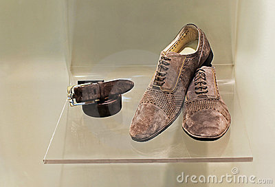 Mans shoes and belt