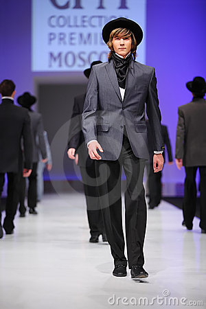 Mans wear suits from Slava Zaytzev walk catwalk Editorial Image