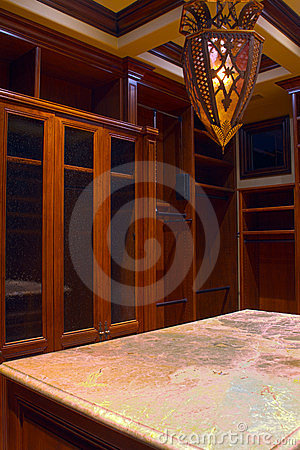 Mansion home walk-in closet and dressing room
