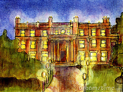 Mansion at night