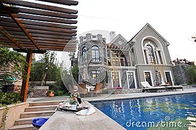 Mansion swimming pool