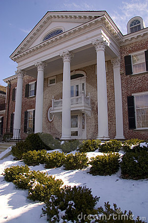 Mansion In Winter