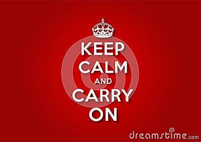 Mantenga la calma e continui