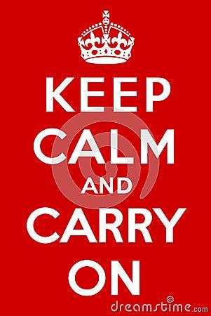 Mantenha a calma e continue