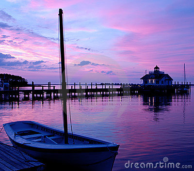 Manteo North Carolina Lighthouse at Sunrise