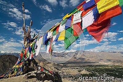 Mantra flags, Leh Palace, Leh City