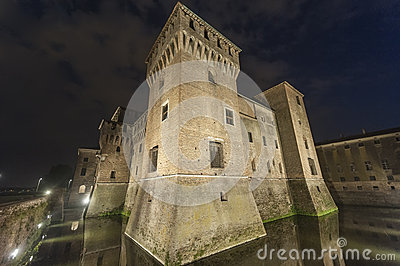 Mantua, the castle by night