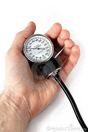 Free Manual Blood Pressure Monitor In Hand Medical Tool Isolated Royalty Free Stock Photo - 764155