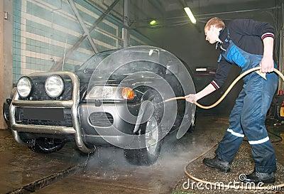 Manual car washing