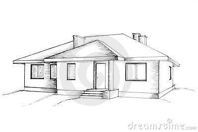 Manual drawing of the house stock photos image 13183413 Draw a plan of your house