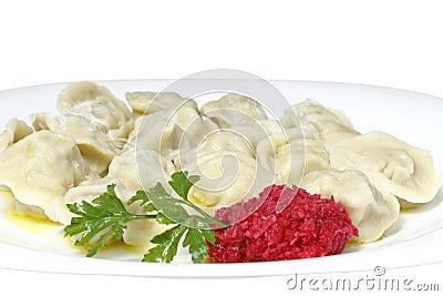 Manual preparation of boiled dumplings