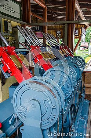 Free Manual Railroad Switch. Stock Image - 47019561