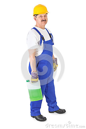 Manual worker with washer fluid
