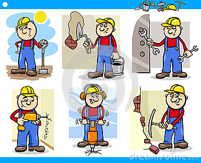 Manual workers or workmen characters set