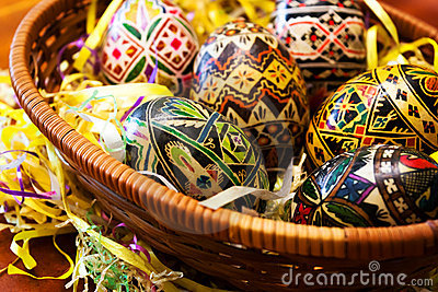 Manually painted Easter eggs 2