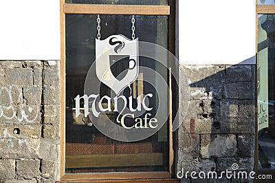 Manuc Cafe Bucharest Editorial Stock Image